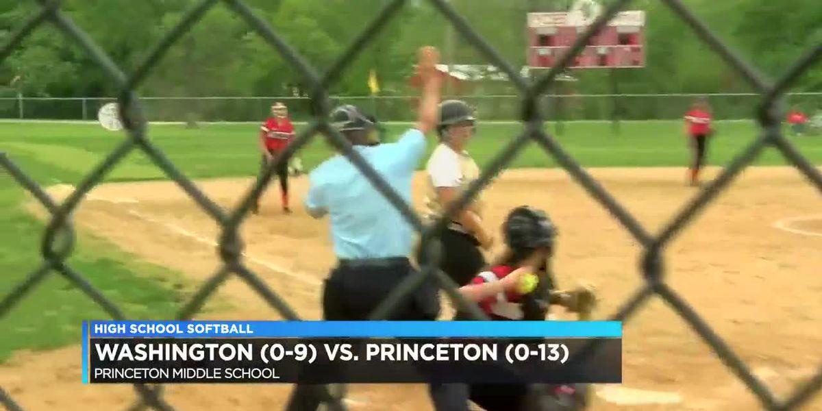 Washington vs Princeton softball