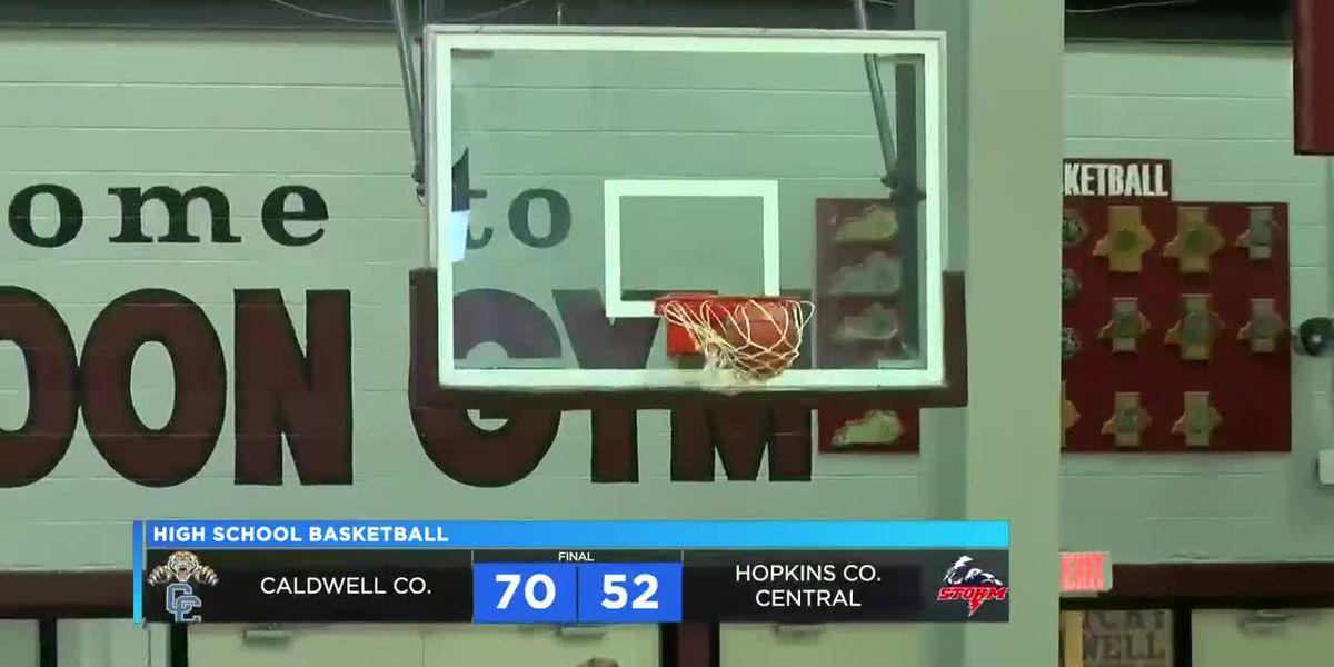 Caldwell Co. vs Hopkins Co. Central boys district basketball highlights