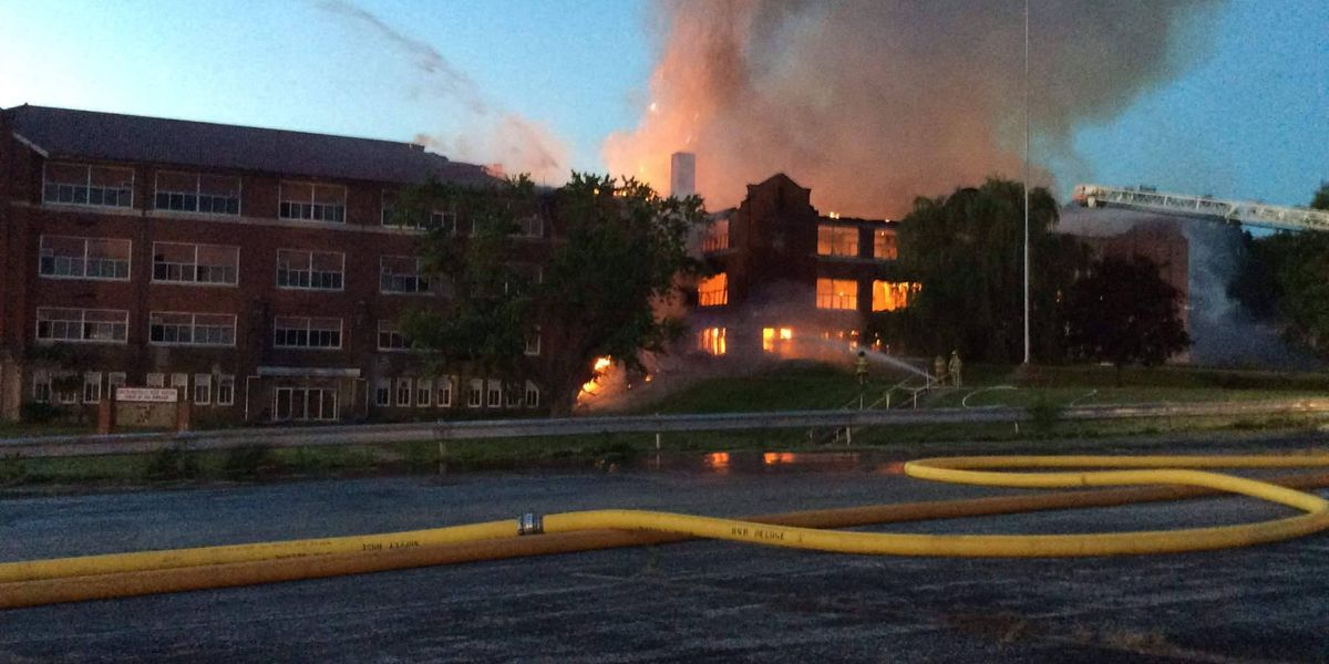 Two juveniles facing charges in old Lawrenceville H.S. fire