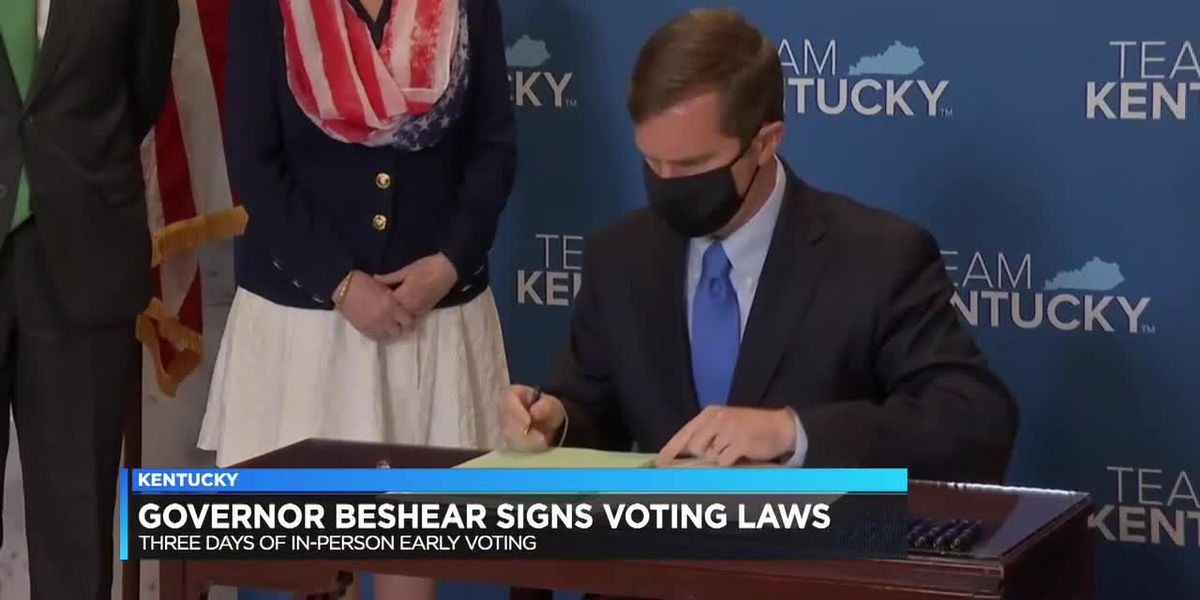 Ky. Gov. Beshear signs voting laws