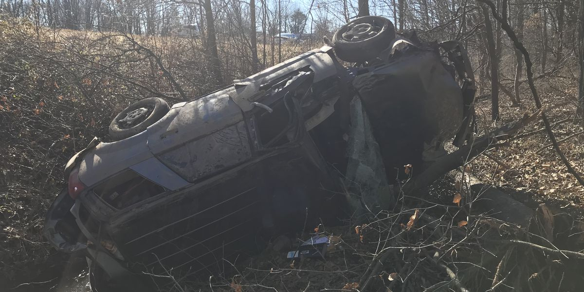 Driver taken to hospital after rollover crash on I-64