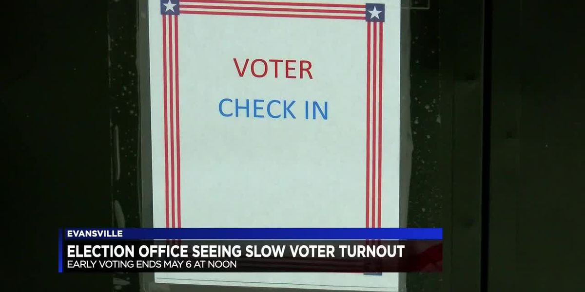 Election Office seeing slow voter turnout