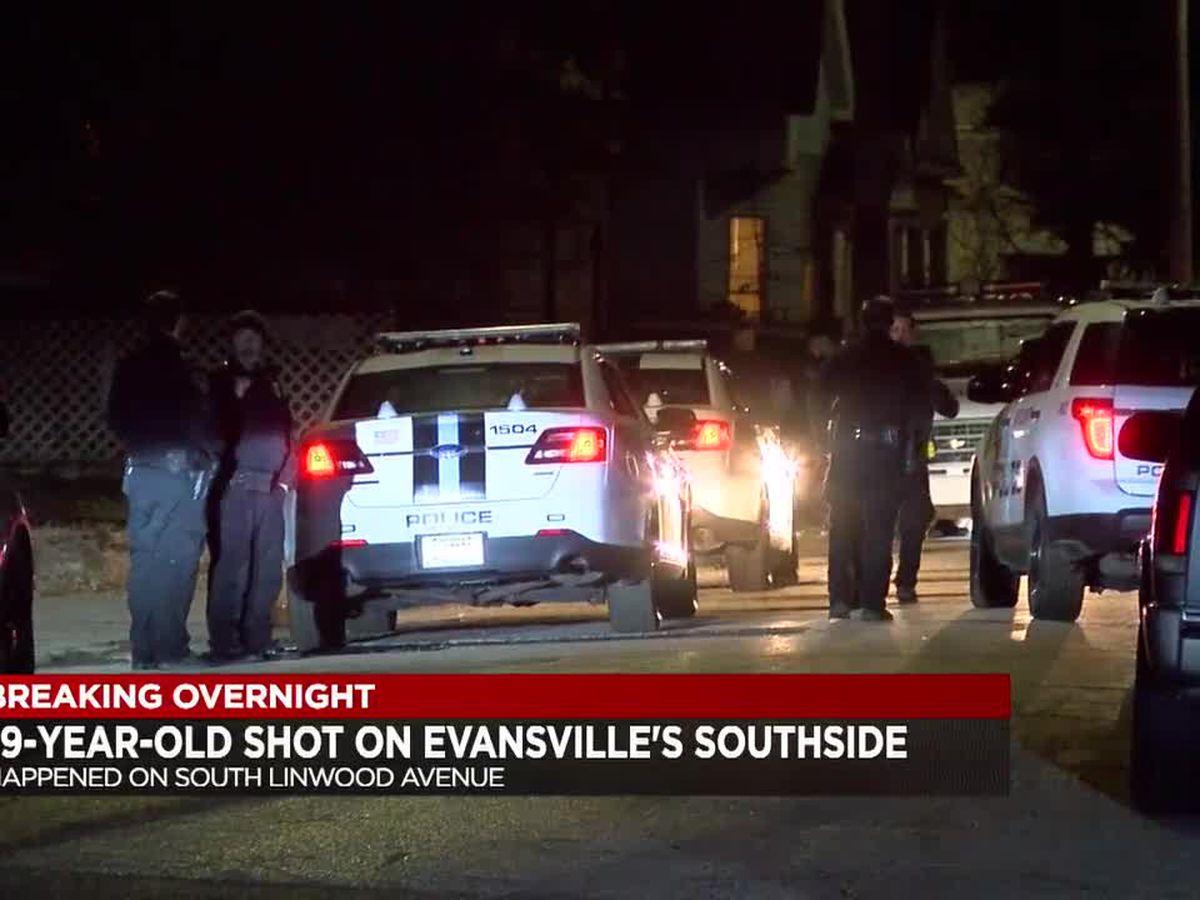 Police: 19-year-old taken to hospital after being shot on Evansville's southside