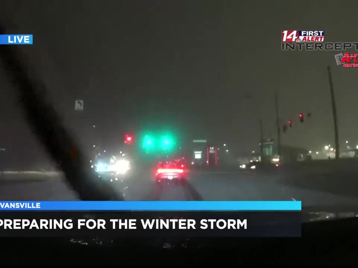 Winter storm causing hazardous roads