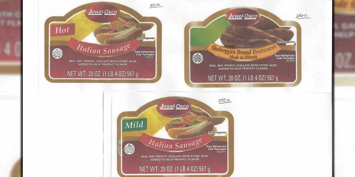 Over 40,000 pounds of sausage products recalled