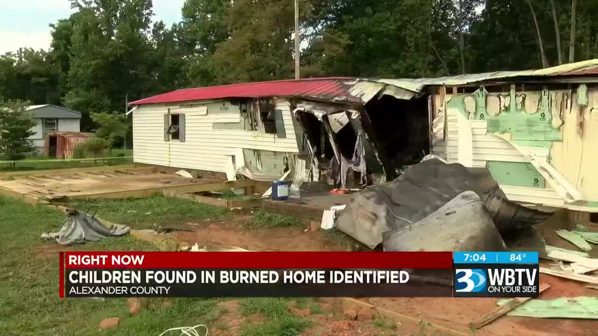 N C  children found dead in burned home identified, mother's