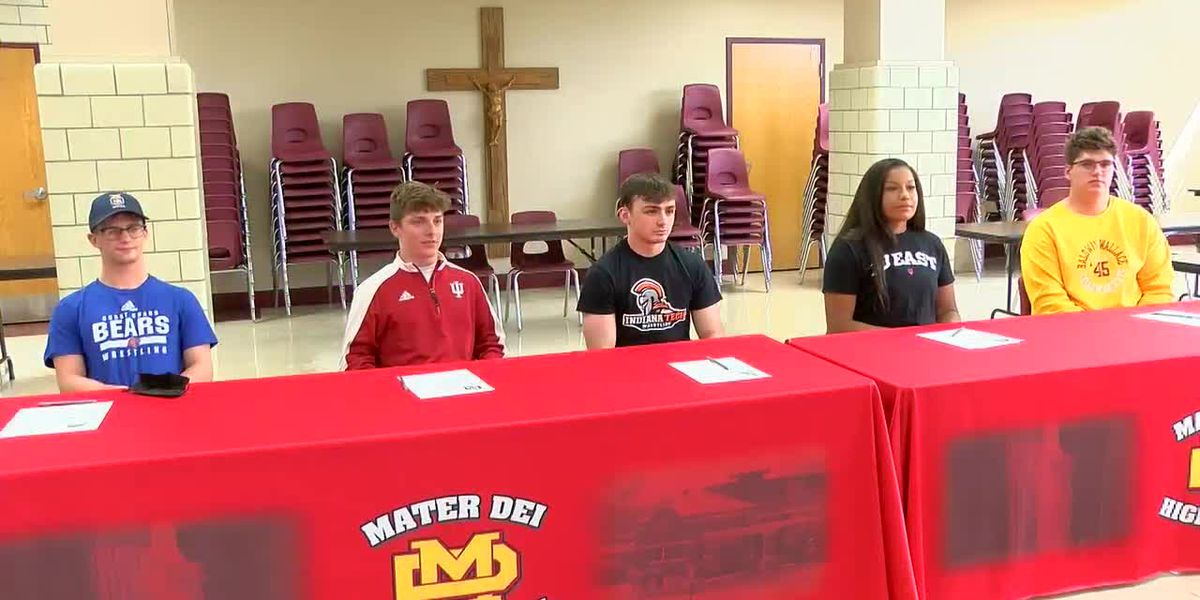 Mater Dei holds Signing Day for 5 student-athletes