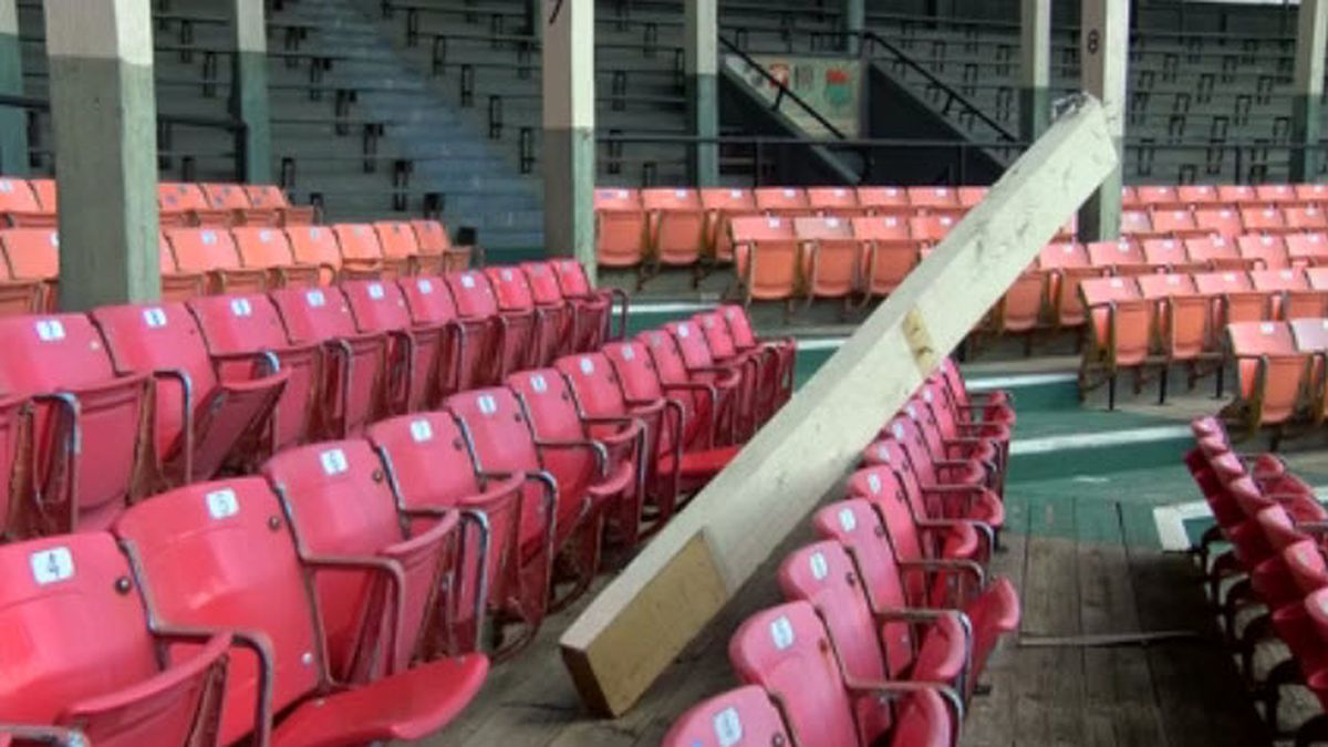 League Stadium damaged during Thursday storms