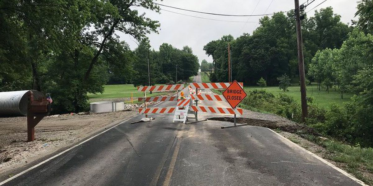 Rain washes out part of Warrick Co. road