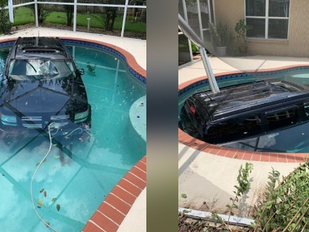 VIRAL: Florida driver accidentally drove into a pool, hit gas instead of brakes