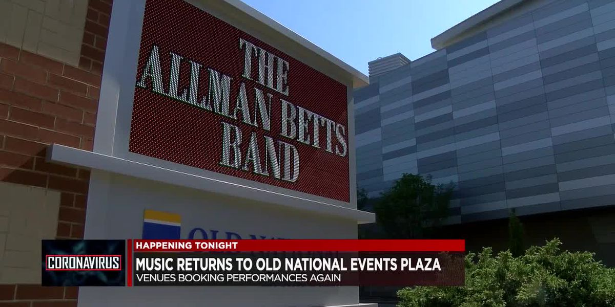 Music set to return to Old National Events Plaza Fri. night