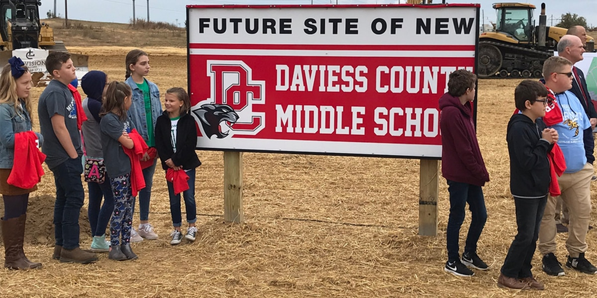 Groundbreaking ceremony held for new Daviess Co. Middle School