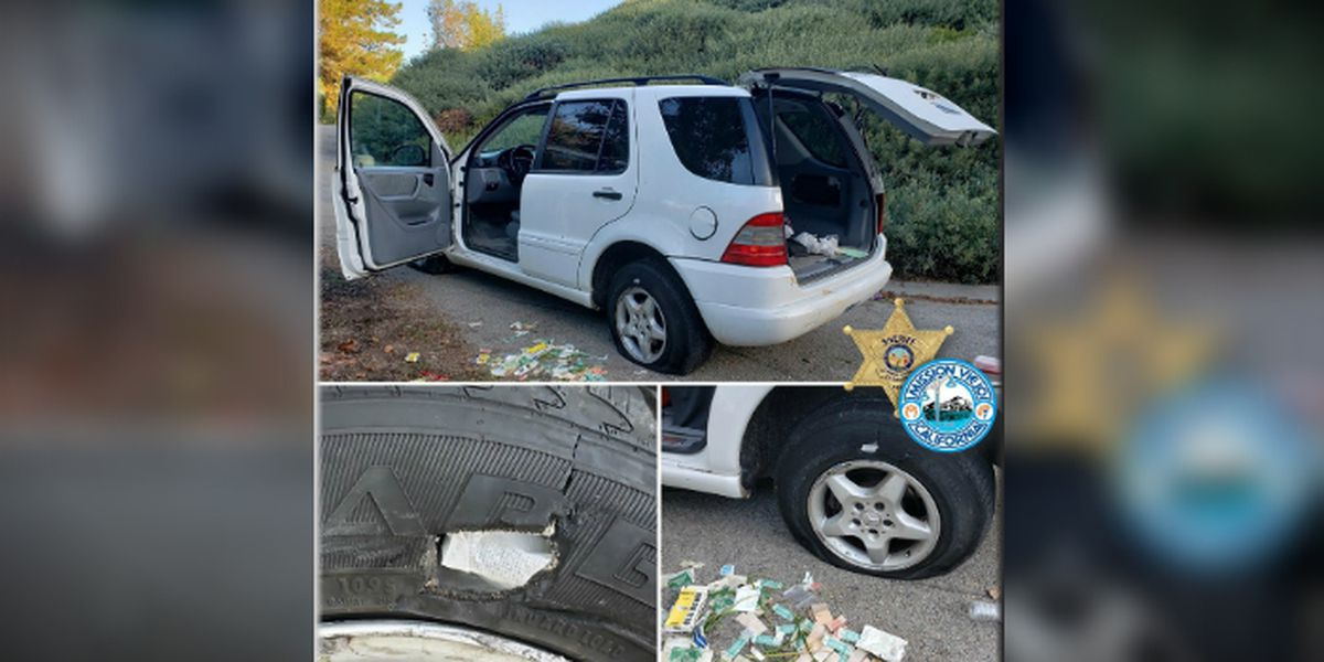 California police arrest man trying to fix flat tires with bandages
