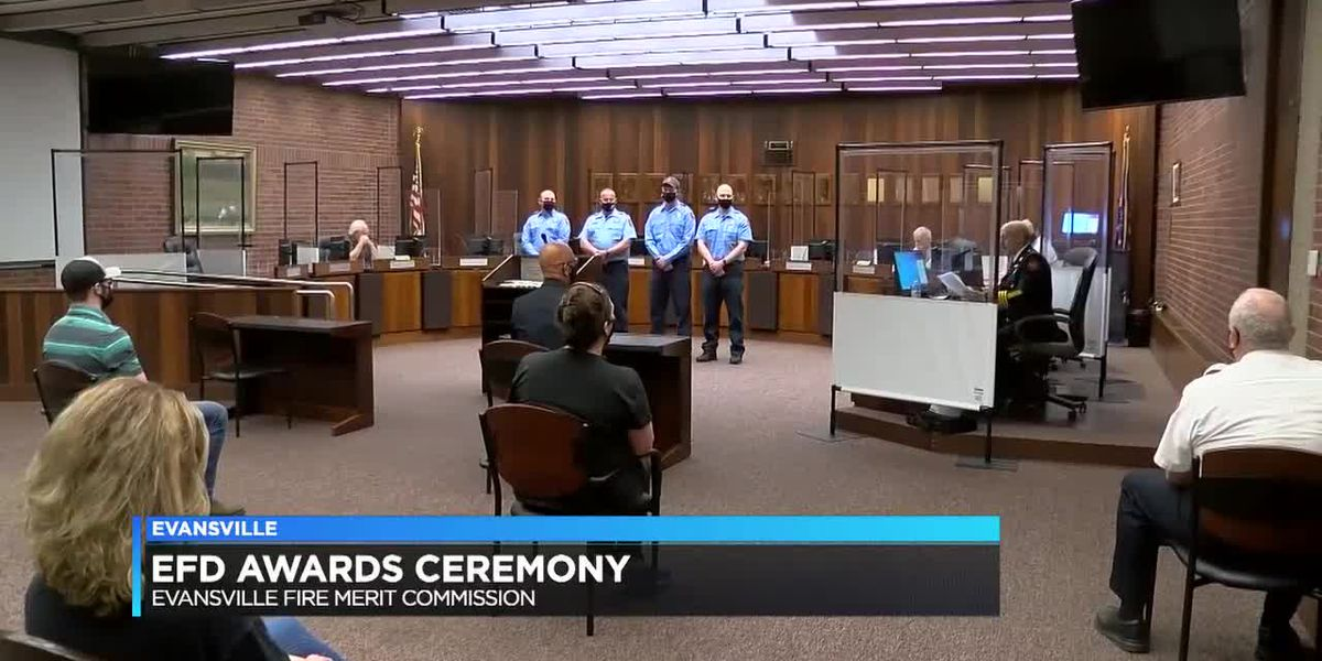 4 Evansville firefighters honored at award ceremony