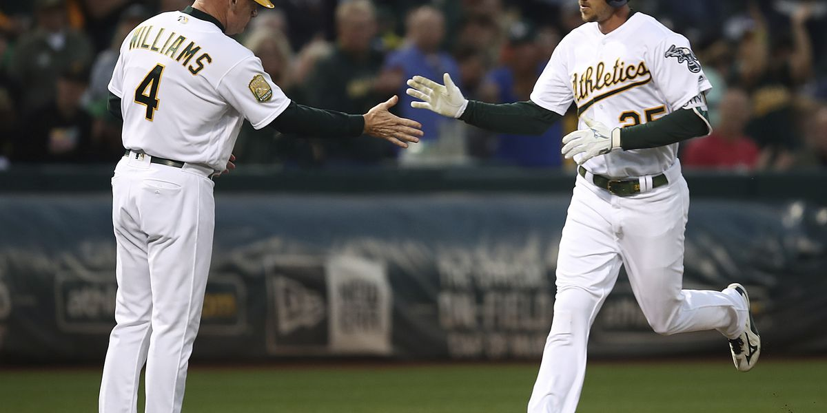 Piscotty homer in 13th lifts A's past Reds 5-4