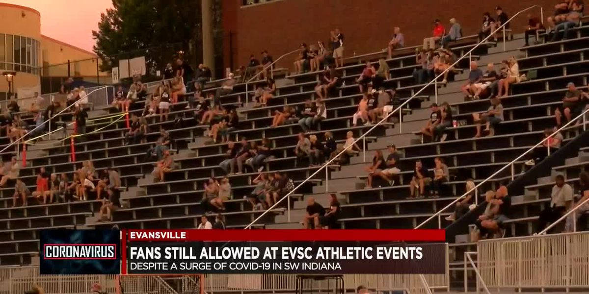EVSC fans can still attend athletic events despite surge in COVID-19 cases
