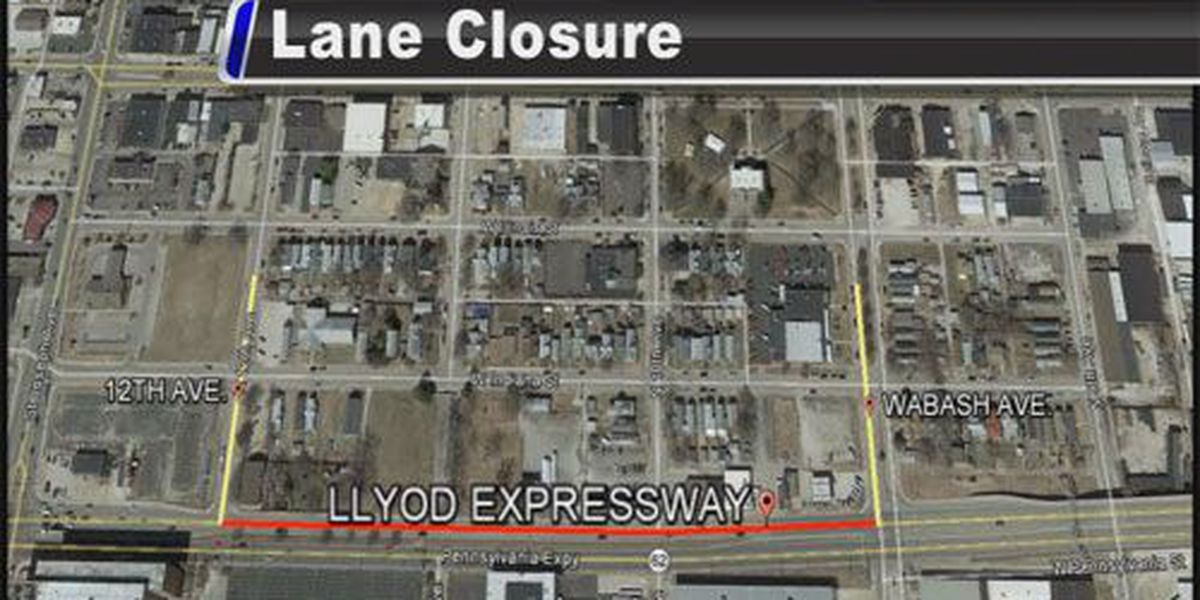 Lane closure planned on Lloyd Expressway for electric work