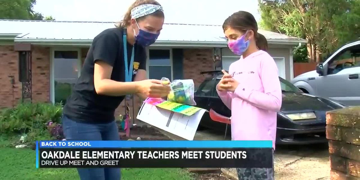 Drive-up meet and greet held for teachers and students