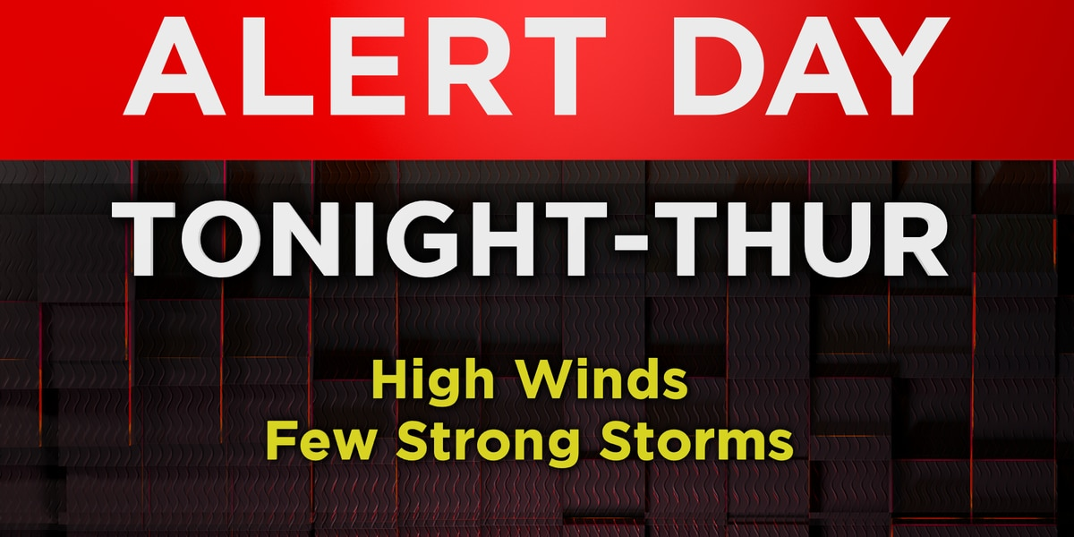 On alert for high winds and strong storms