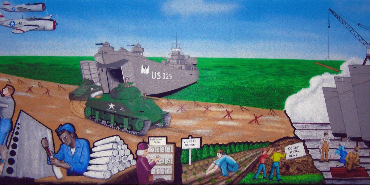New mural unveiled at LST Memorial Visitor's Center