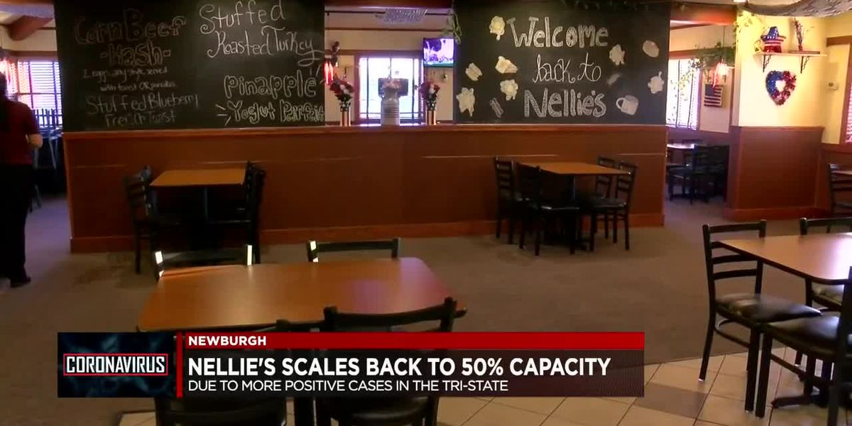 Nellie's Restaurant scales back to 50% capacity due to recent COVID-19 spike