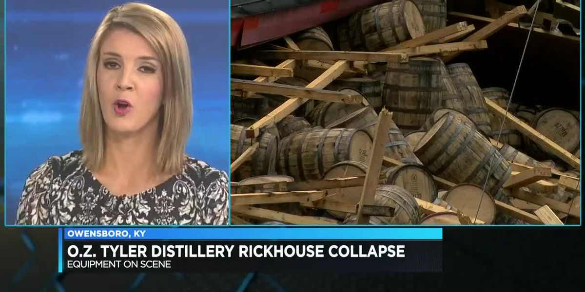 O.Z Tyler Distillery working to determine what caused their rickhouse to collapse