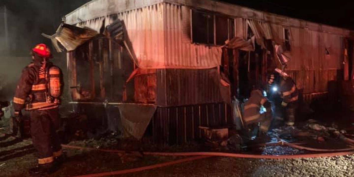 1 sent to hospital after mobile home fire