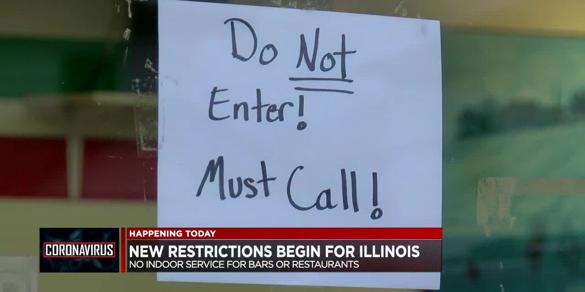 New restrictions begin in Illinois with no indoor service for bars, restaurants