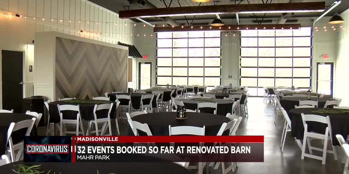 Newly renovated Mahr Park event barn books events for the first time