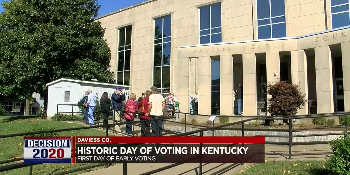 Kentucky celebrates first day of in-person early voting