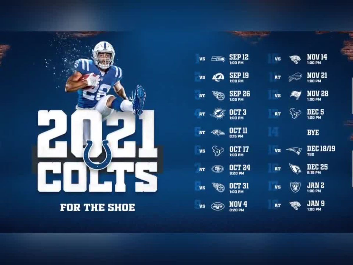 Indianapolis Colts release 2021 schedule