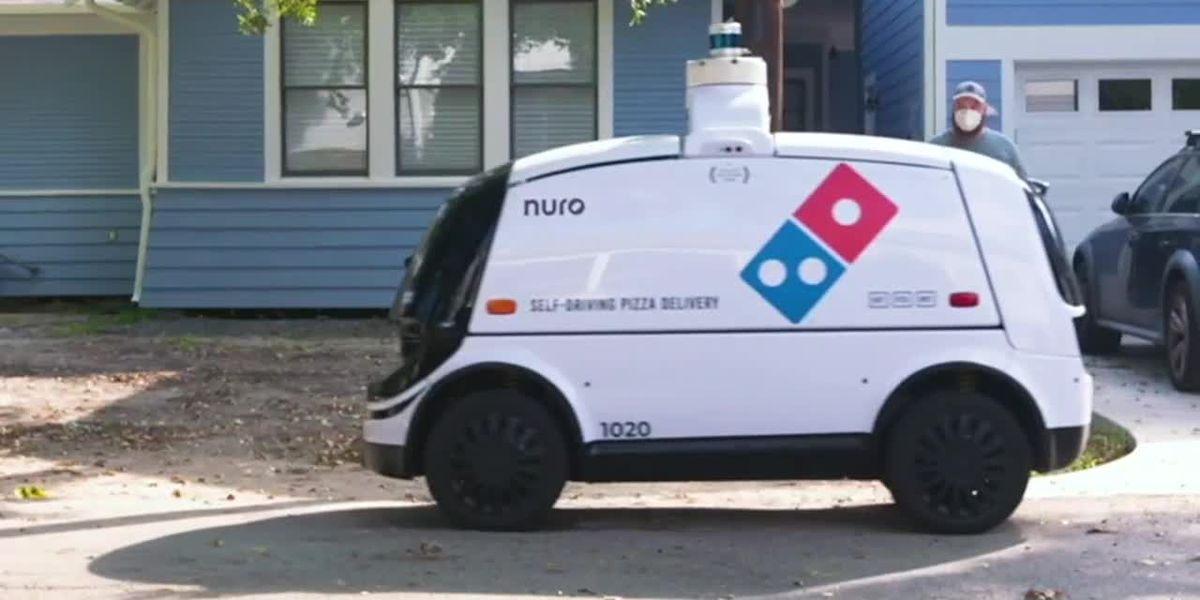 RAW: Domino's robot pizza delivery