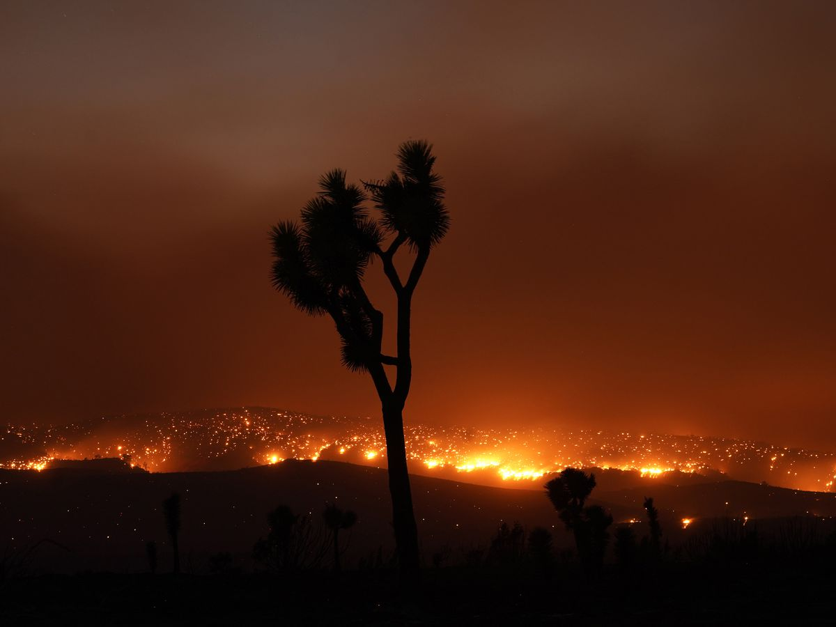 Utility equipment eyed as possible source of fire near LA
