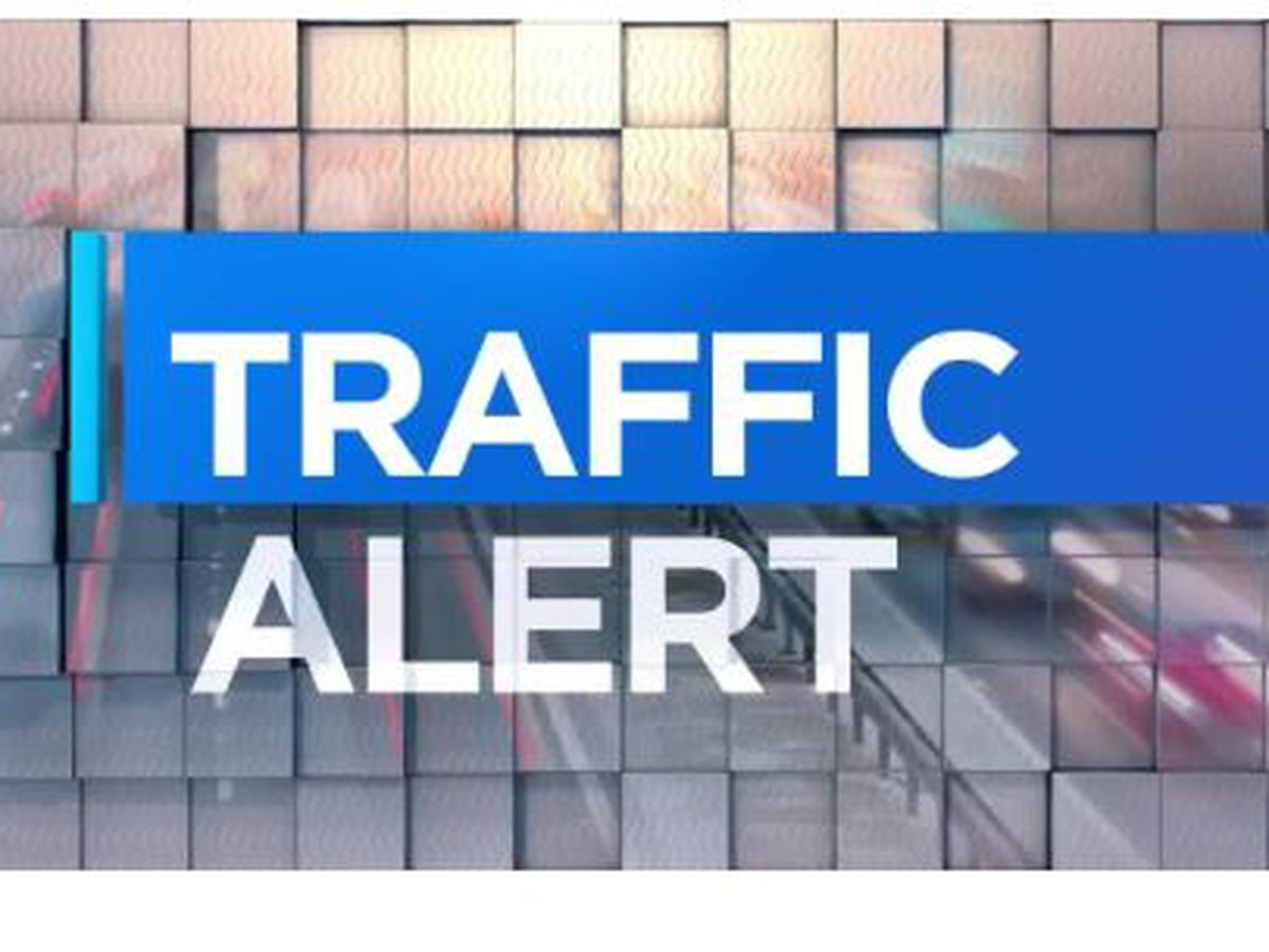 Traffic Alert: Barriers put up for workers at Veterans and Waterworks Rd