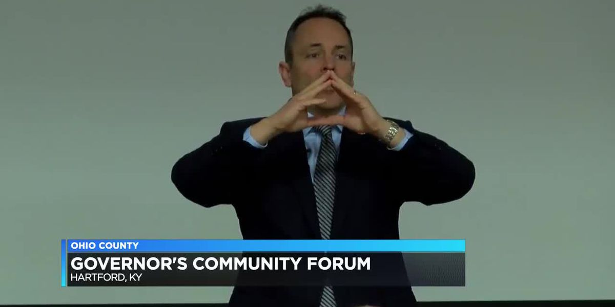 Gov. Bevin talks pension, infrastructure, and tourism at community forum