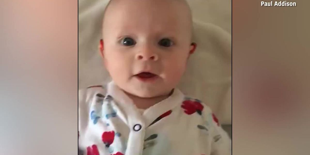 Watch: Baby's joy after hearing aids turned on
