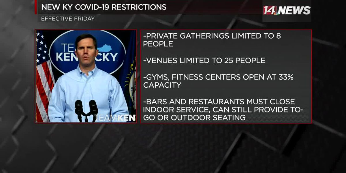Gov. Beshear urging Kentuckians to follow new COVID-19 restrictions