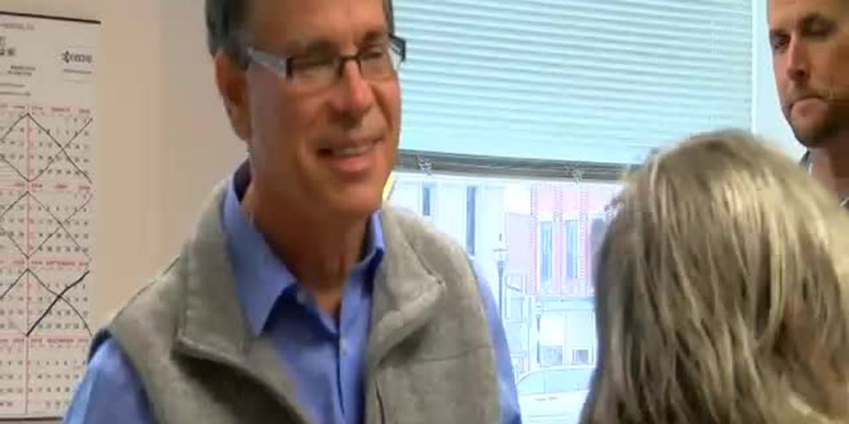 Mike Braun votes in Dubois Co.