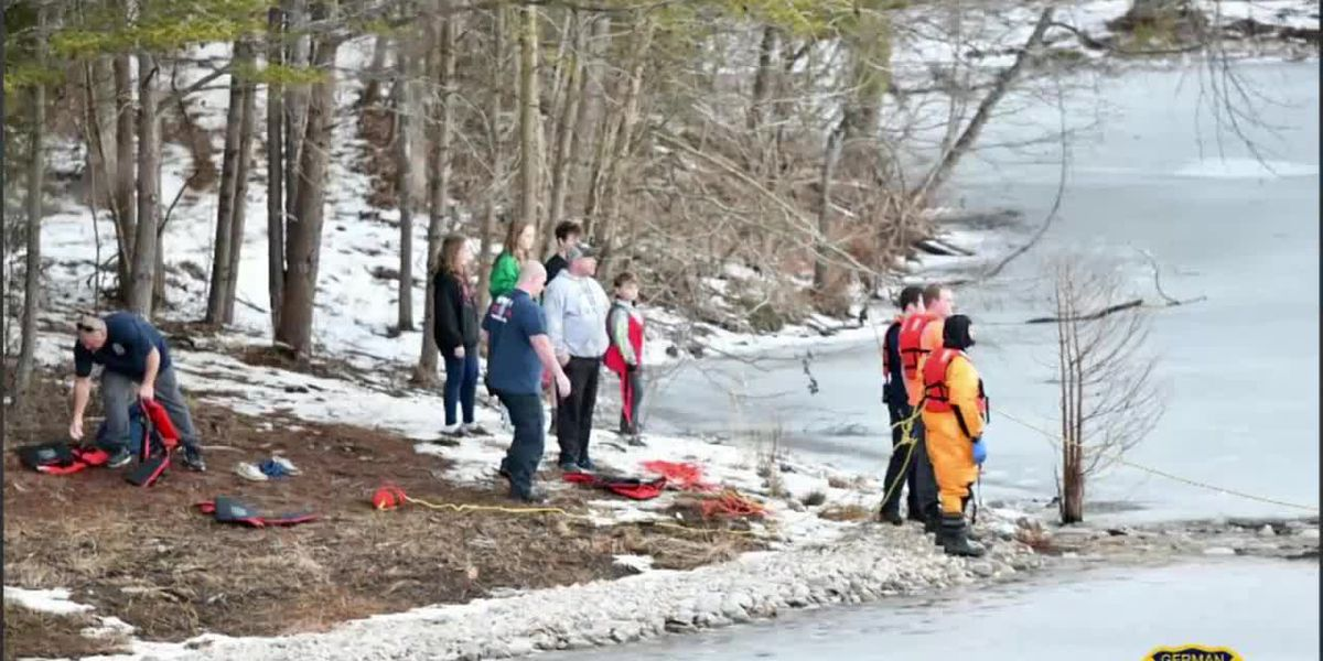 Crews respond to 2 separate water rescues for dogs