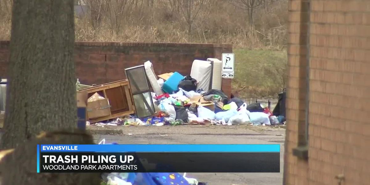 Trash buildup causing concern for Woodland Park Apartment residents, city officials