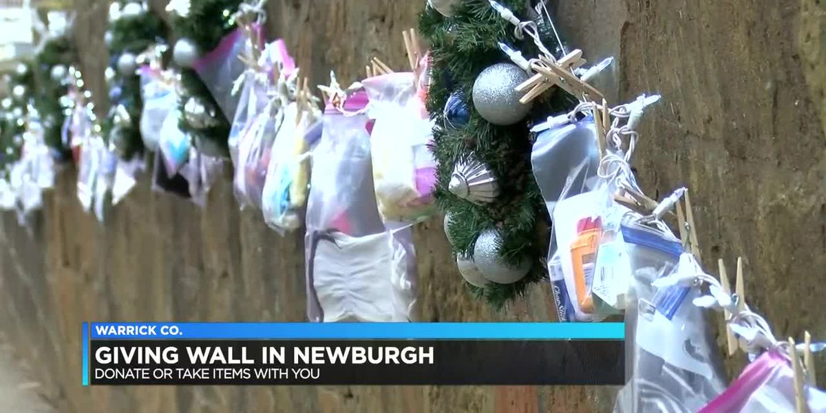 'Giving Wall' set up by Newburgh woman