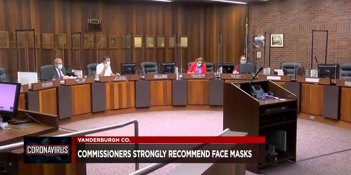 Vanderburgh County Commissioners unanimously votes in favor of face masks