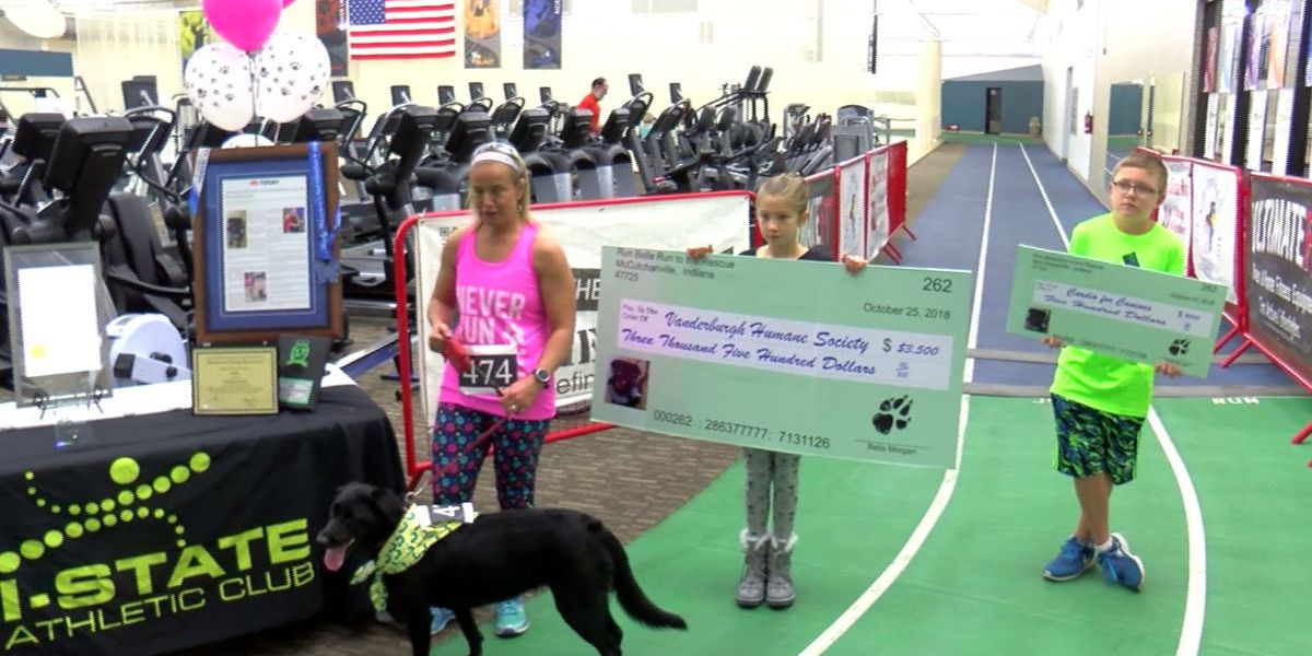 Vanderburgh Humane Society is getting a nice donation thanks to one running couple