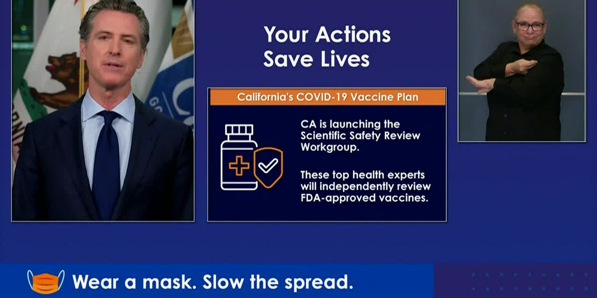RAW: Calif. governor announces state review panel for COVID vaccines