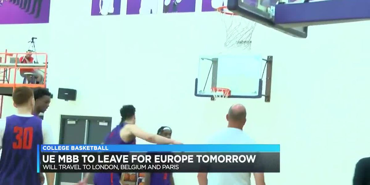 UE men's basketball to leave for Europe Tues.