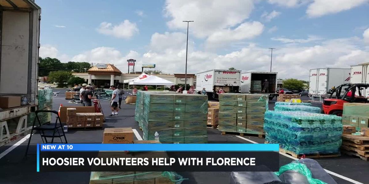 Red Cross volunteers from Indiana helping in the Carolinas