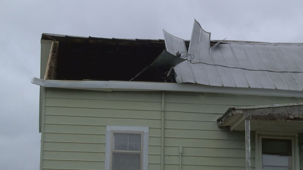 Strong Winds Rip Part Of The Roof Off A Century Old Home