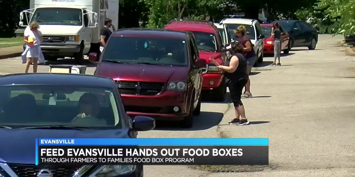 Feed Evansville Task Force hands out thousands of food boxes