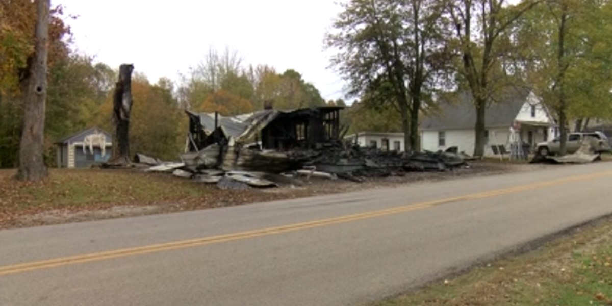 Large house fire in Daviess Co. causes home to collapse