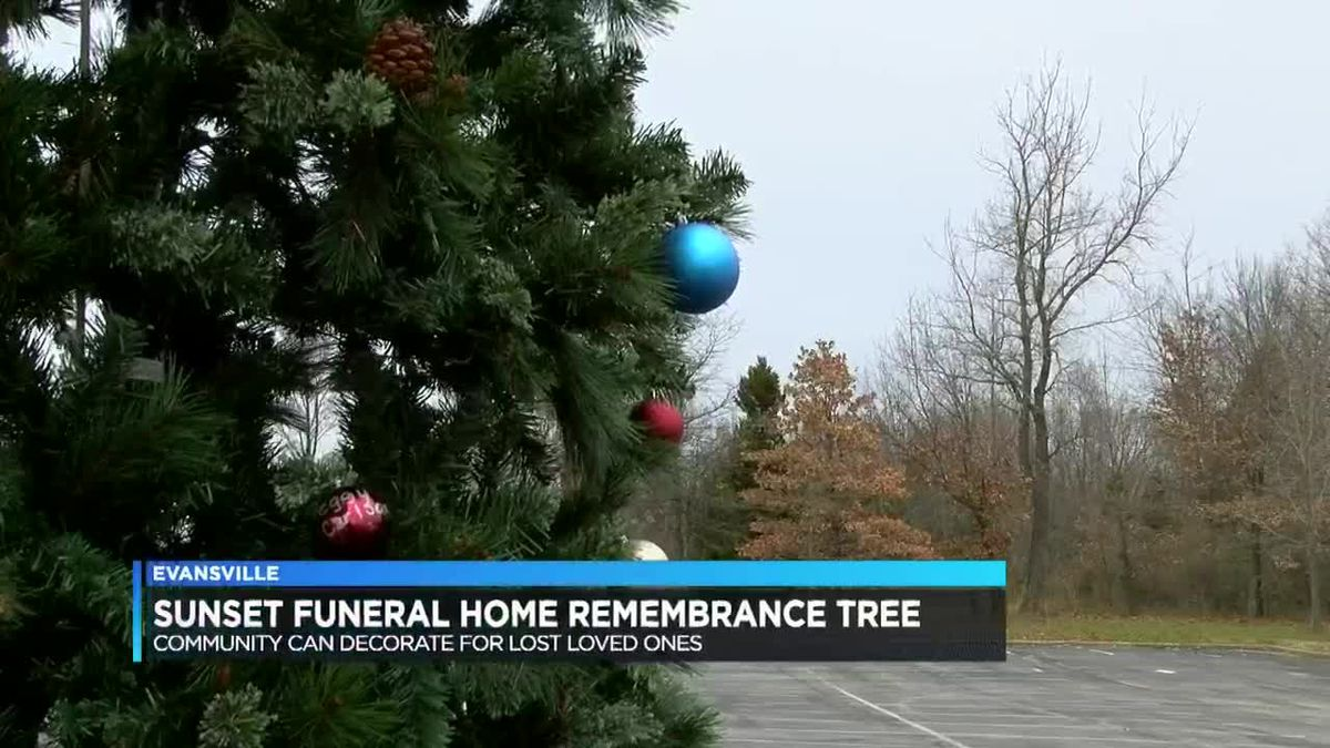 Sunset Funeral Home displays remembrance tree in honor of lost loved ones this season